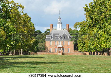 Stock Photo of Governor's Palace in Williamsburg k30517394.