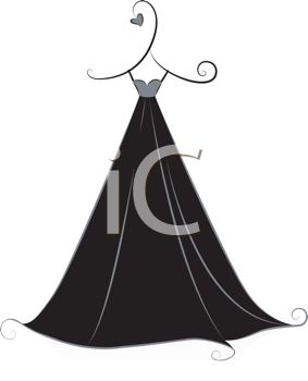Royalty Free Clipart Image: Stylized Gown Design Element.