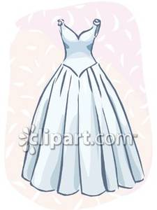 A_Wedding_Gown_Royalty_Free_Clipart_Picture_081106.