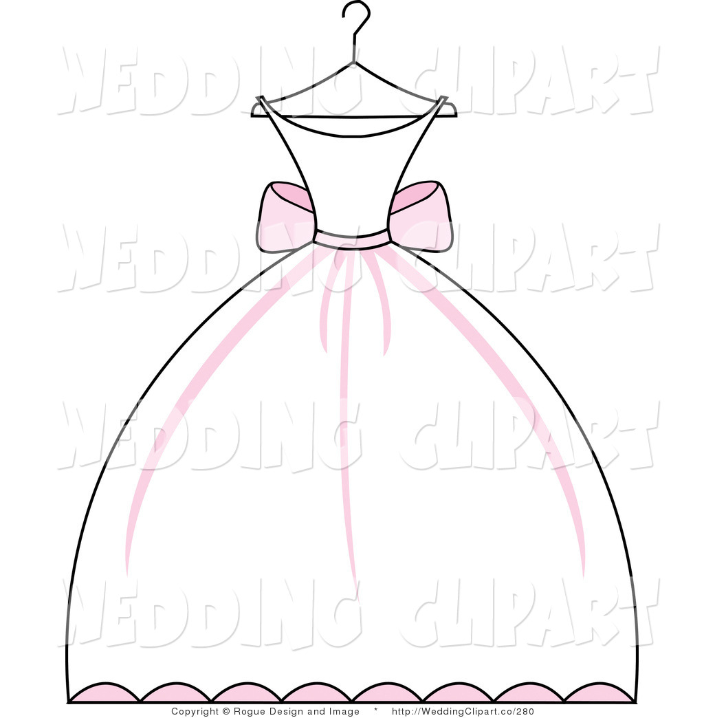 Wedding gown clip art.