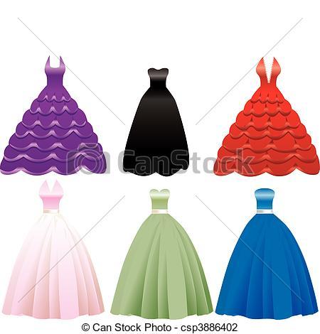Formal Dress Clipart.