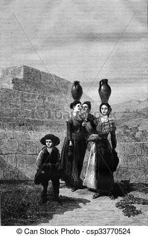 Clip Art of Royal Museum of Madrid, Goya card for tapestry.
