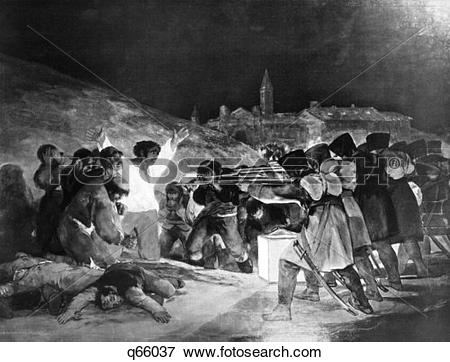 Picture of 1808 The Firing Party Goya Painting Executions Of.