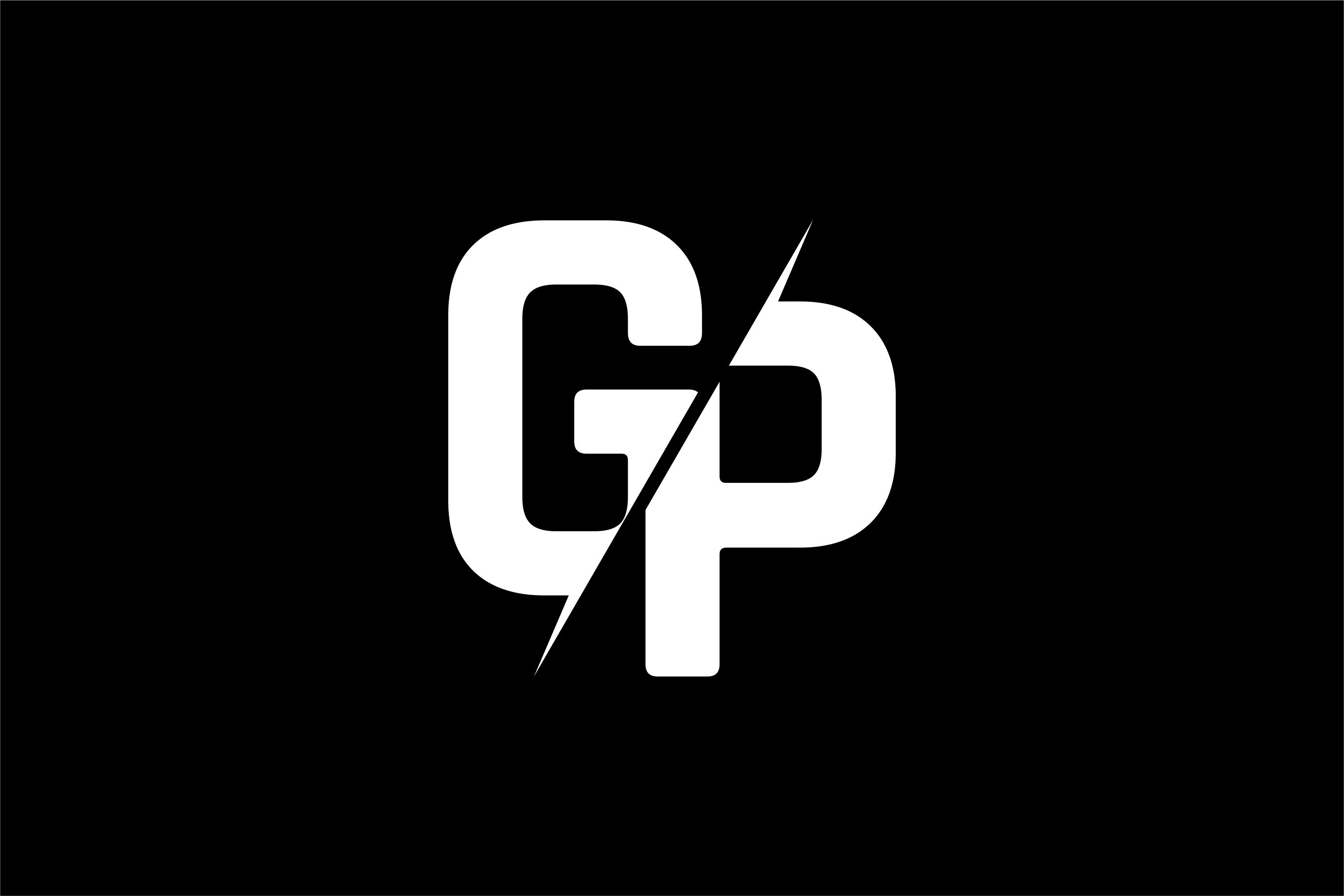 Monogram GP Logo Design.