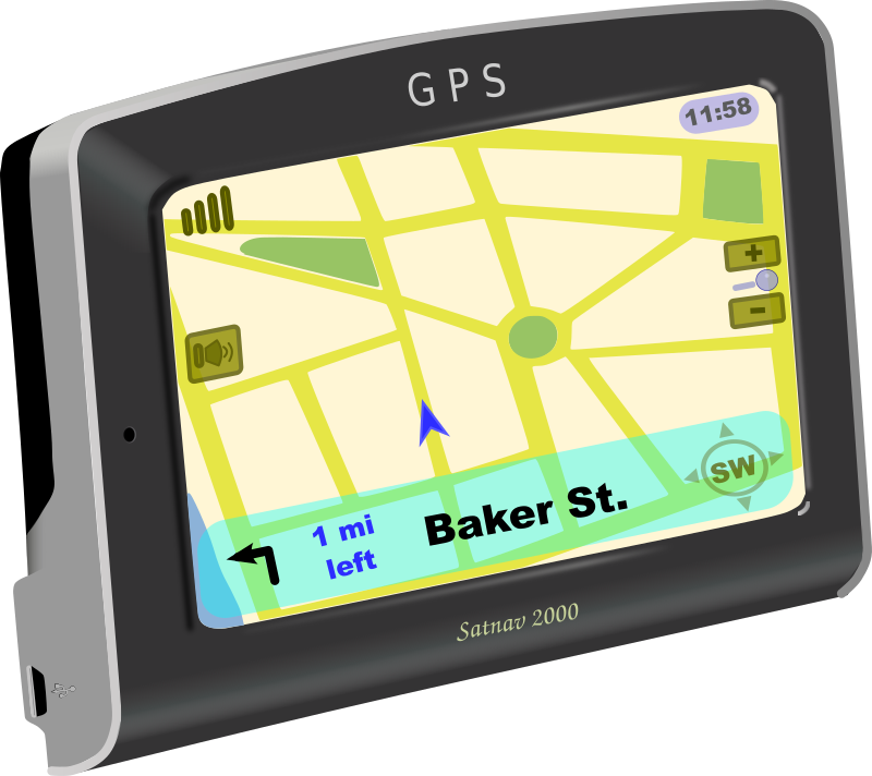 Car with gps clipart.