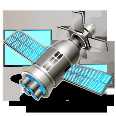 Gps, satellite, solar, space icon.