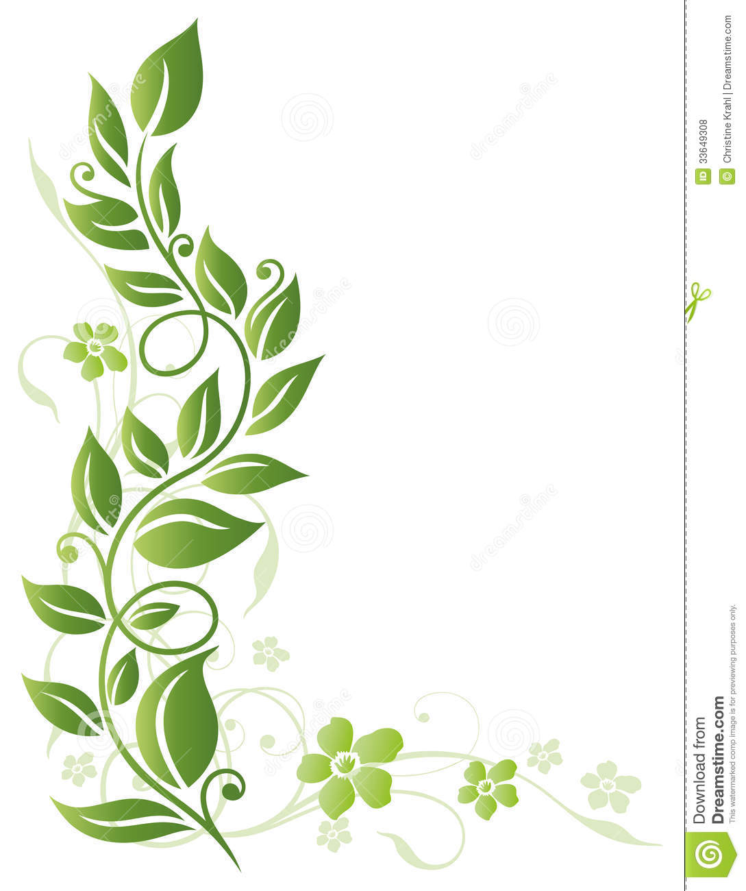 Leaves, Flowers, Spring Royalty Free Stock Photos.