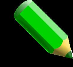 grünen stift cliparts, clipart.