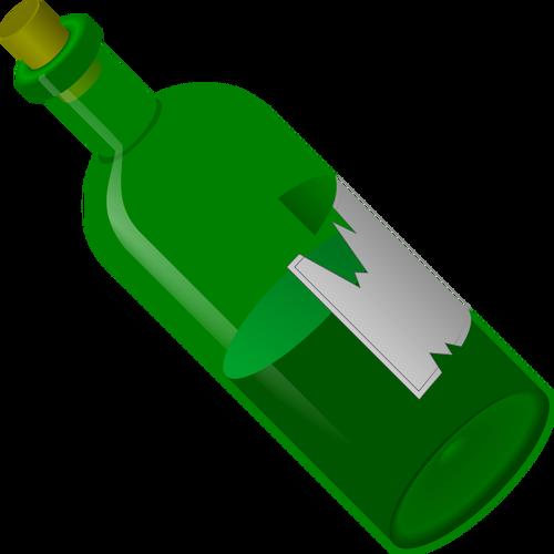 Grüne Flasche Vektor.