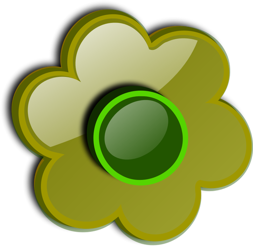 Glänzend grüne Blume Vektor.