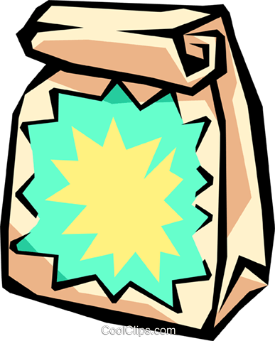 grab bag Royalty Free Vector Clip Art illustration.