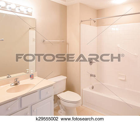 Stock Photo of Bathroom with Grab Bars k29555002.