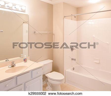 Stock Photo of Bathroom with Grab Bars k29555002.