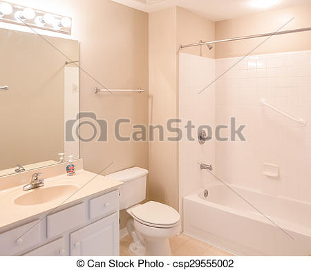Stock Photography of Bathroom with Grab Bars.