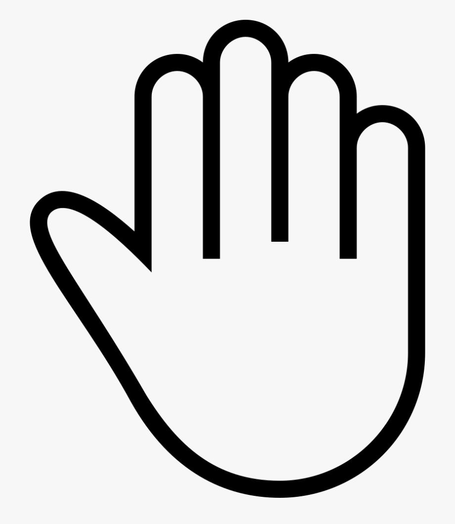 High Five Stroke Gesture Symbol.