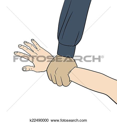 Stock Photograph of hand in grabbing position isolated over white.