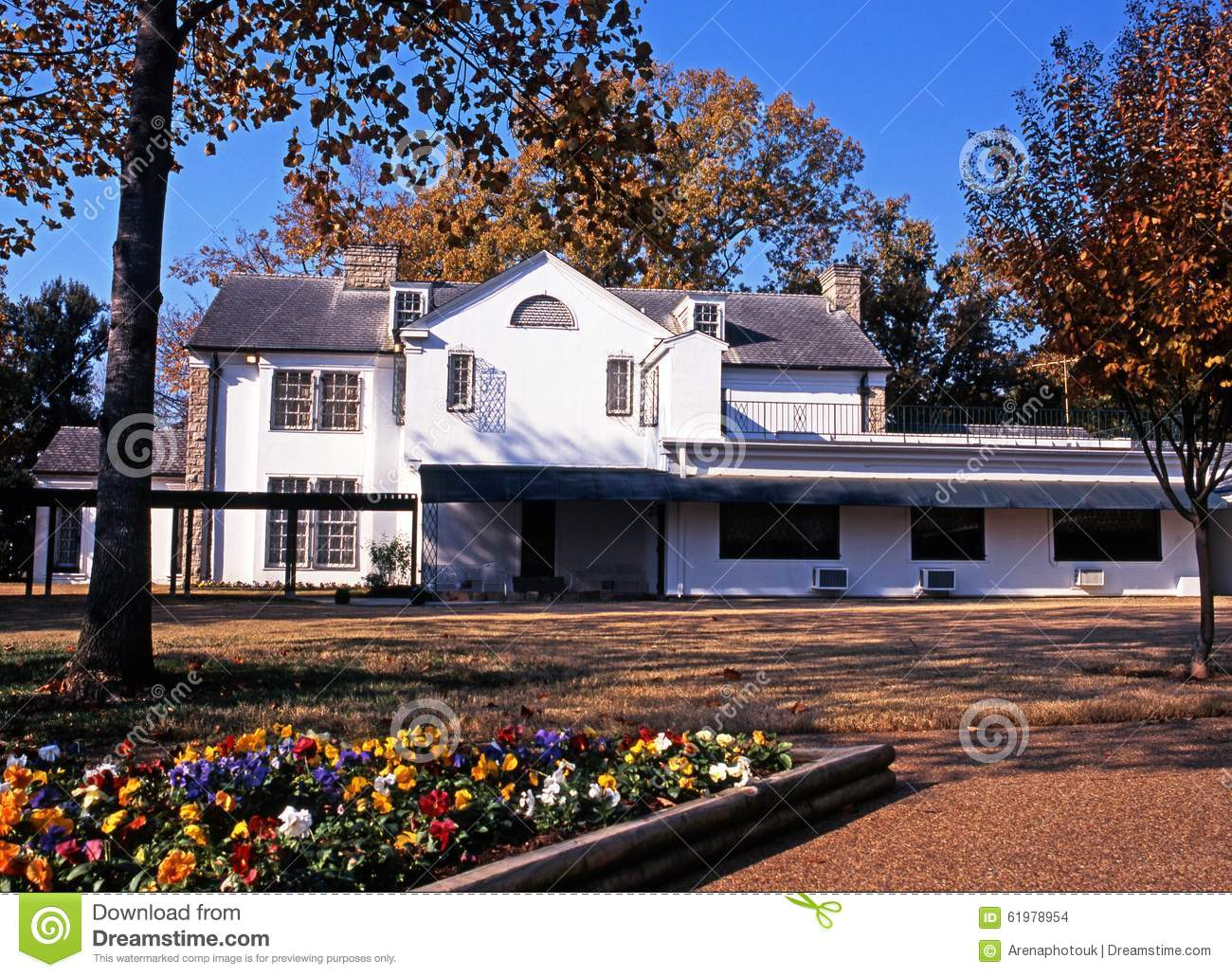 Graceland And Garden, Memphis. Editorial Stock Image.