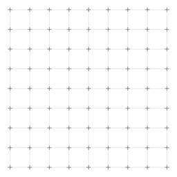 Black and white square grid.