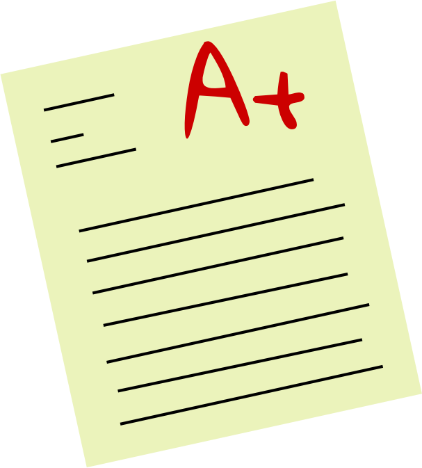Clip art of graded test.