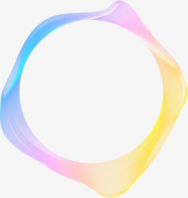Color gradient circle PNG clipart.
