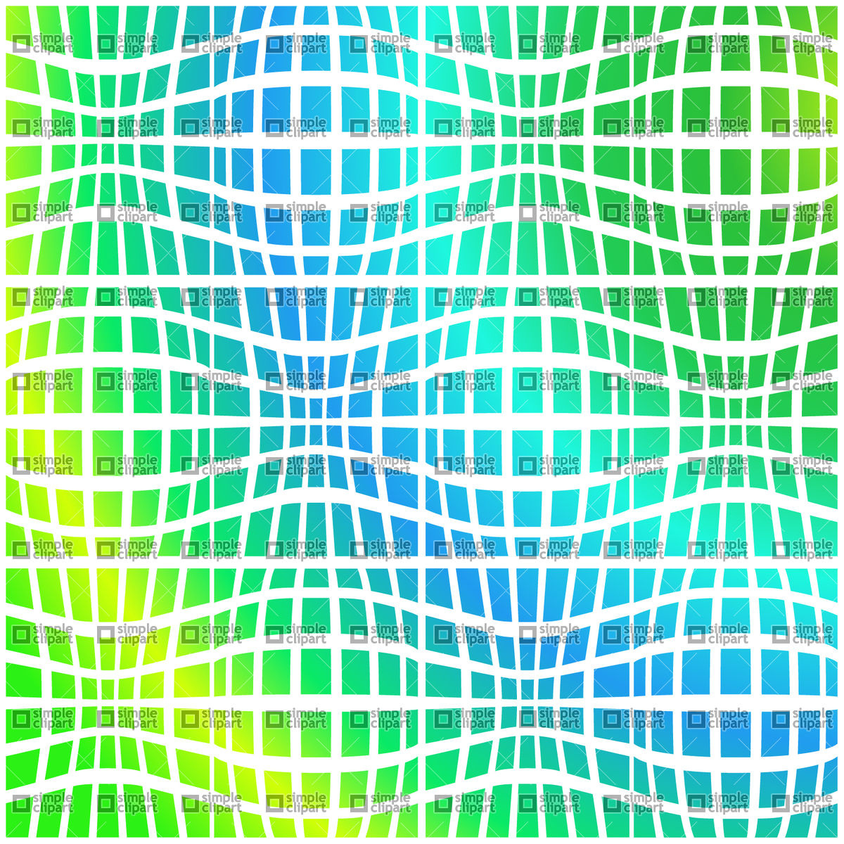 Checkered psychedelic distorted gradient background Vector Image.