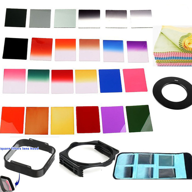 33 In 1 Camera Lens Filter Kit Gradient Filter Panchromatic Lens.