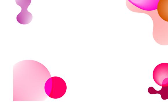 Pink gradient background.