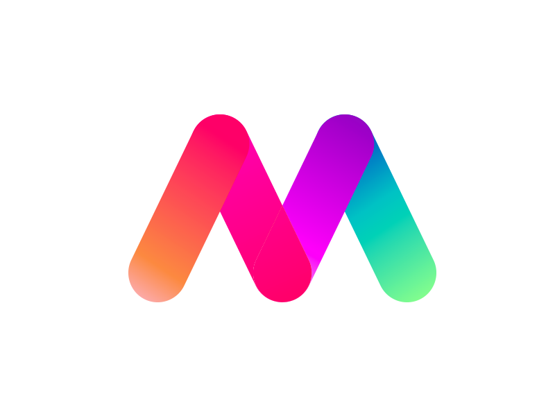M Gradient logo by BrainBrand on Dribbble.