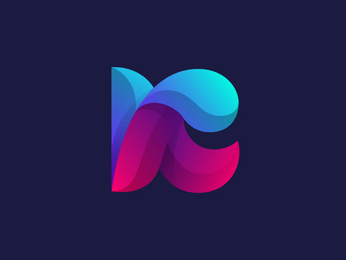 25 Colorful Gradient Logo Designs.