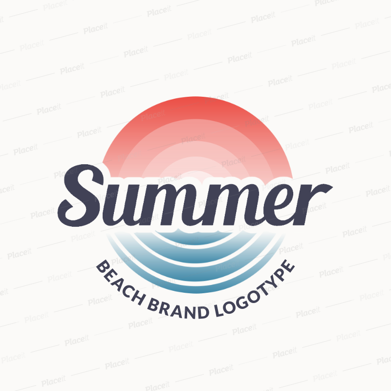Beach Bar Logo Maker with Simple Gradient Features 1759a.