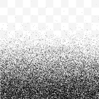 Grain gradient vector transparent background, black and.