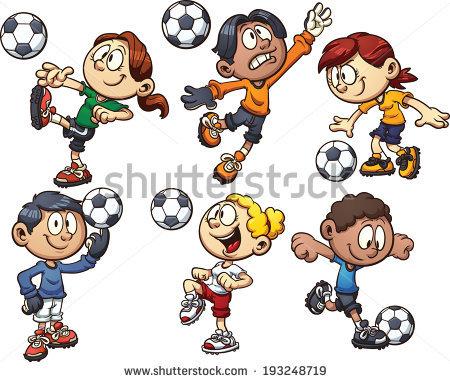 Cartoon Kids Playing Vector Clip Art Stock Vector 154086662.