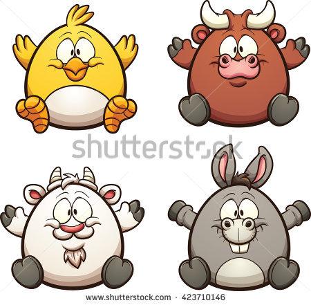 Angry Donkey Kick Vector Clip Art Stock Vector 207945277.