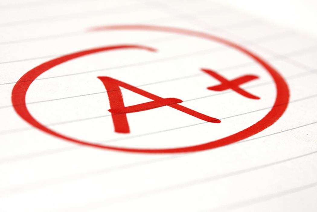Letter grades clipart.
