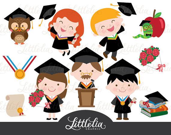 Graduation celebration clipart.