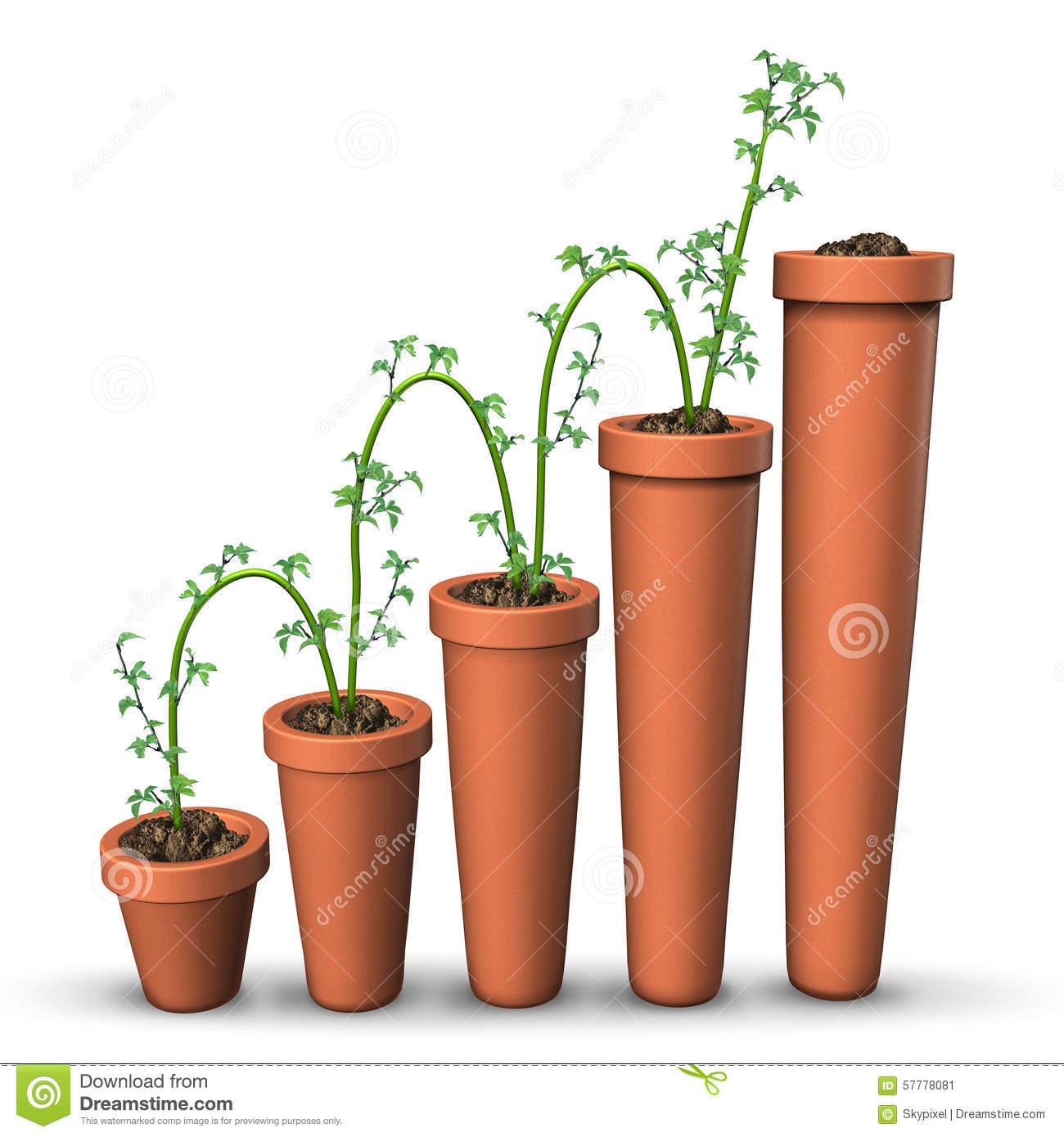 Growth Success Stock Illustration.