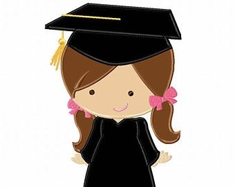 Girl graduate clipart.