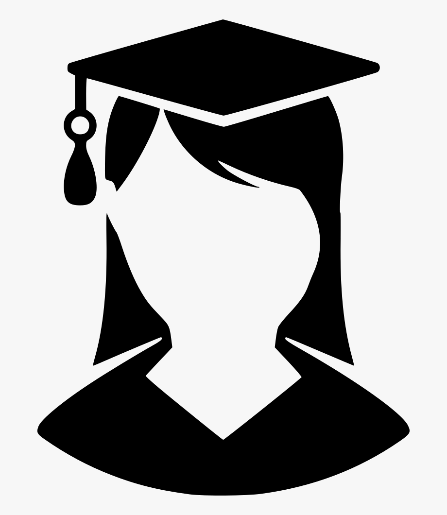 Graduate Lady Svg Png Icon Free Download.