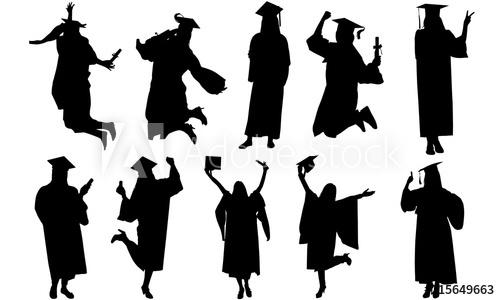 Woman Graduate Silhouette.