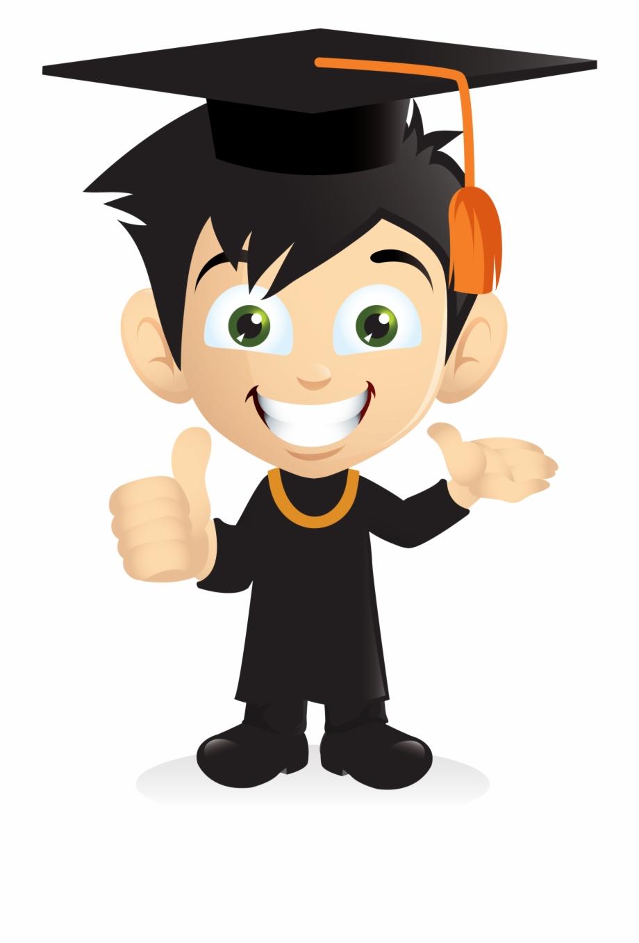 Cartoon Smiling Graduation Boy [png] Png.