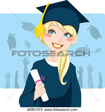 Clipart of Asian Graduate k6351412.