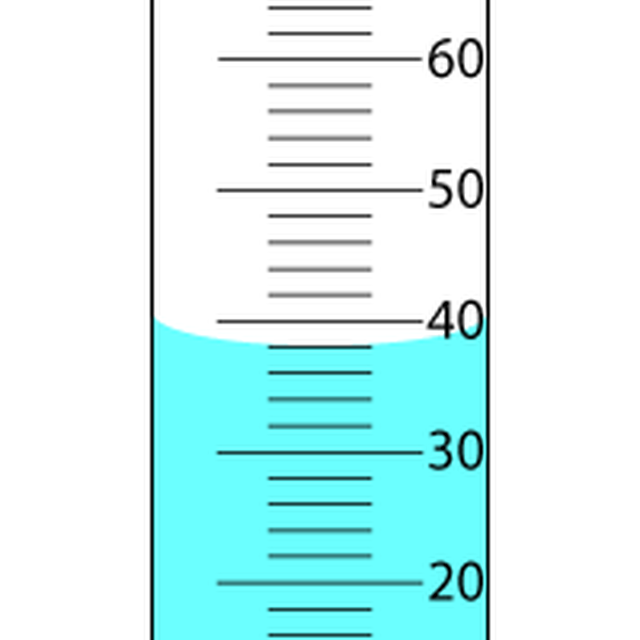 Meniscus Graduated Cylinder Clipart.
