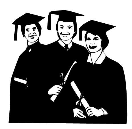 Graduates Clipart.