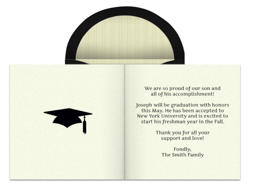 Graduation Announcement Wording.