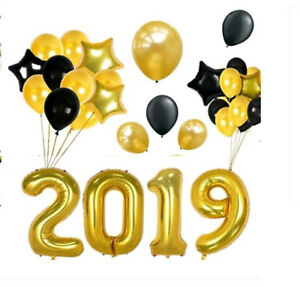 Details about 40 Inch Black 2019 Balloons for Graduation Decoration Jumbo  Star Helium Balloon.