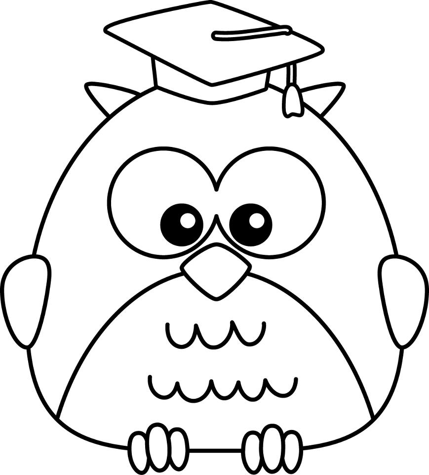 Black and white graduation clipart.