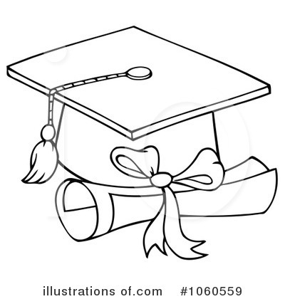 Graduation Black And White Clipart#1957085.