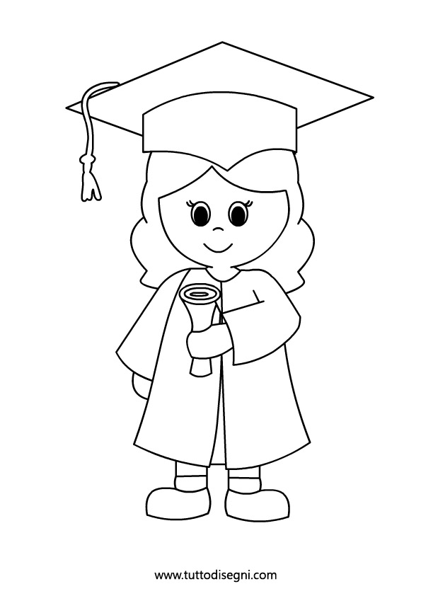 Flying Graduation Caps Clip Art.