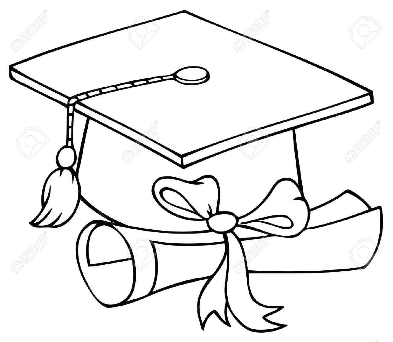 Graduation Black And White Clipart.