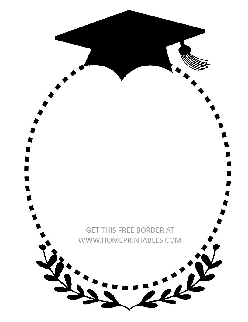 free graduation border.